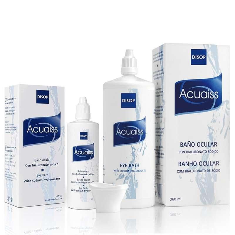 Acuaiss Limpieza ocular con ácido hialurónico Disop 100 y 360ml
