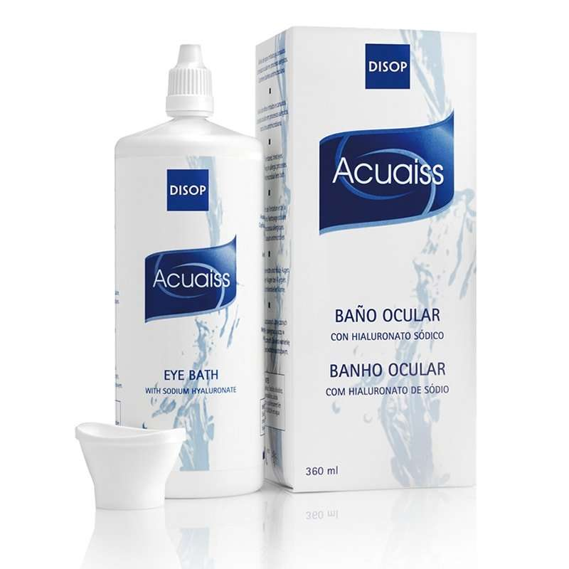Acuaiss Limpieza ocular con ácido hialurónico Disop 360ml