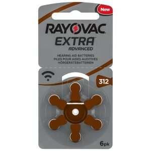 Rayovac Extra Advance 312 Ultra Zinc-Air 6 Pilas