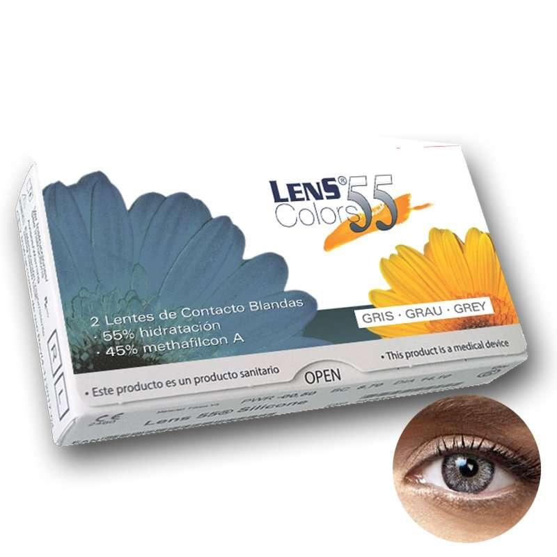 Lentillas de Color Graduadas Lens 55 Colors Gray
