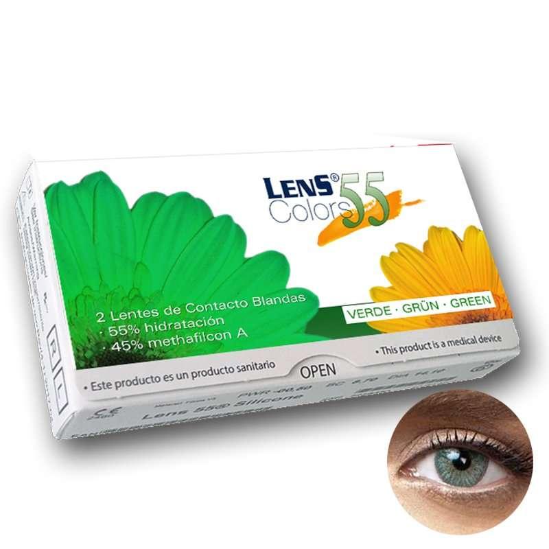 Lentillas de Color Graduadas Lens 55 Colors Green
