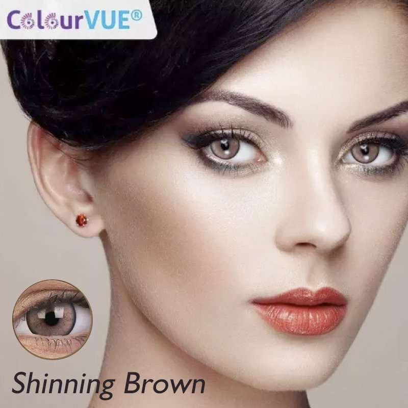 Lumina Lentes de color trimestrales Colourvue Shinning-Brown