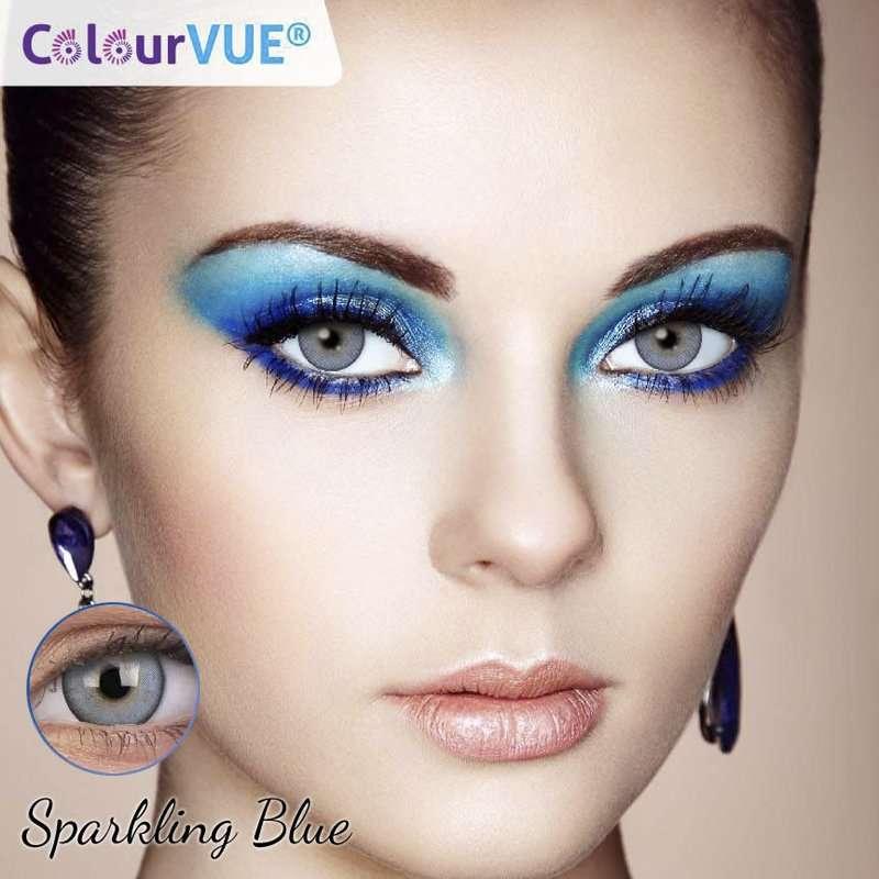 Lumina Lentes de color trimestrales Colourvue Sparkling-Blue