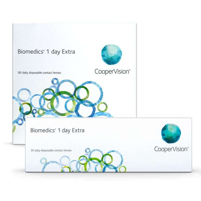 Biomedics 1 Day Extra CooperVision Pack 30-90 lentillas desechables