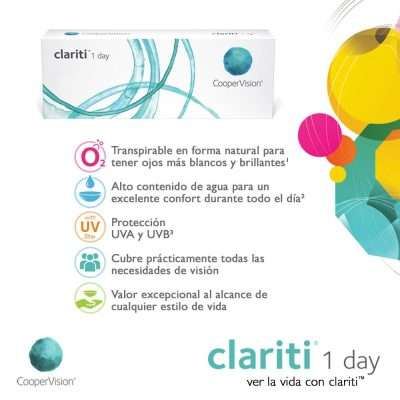 Clariti 1 Day CooperVision Pack 30-90 lentillas desechables