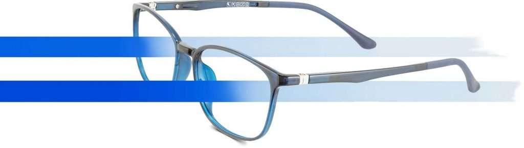 Gafas con filtro azul
